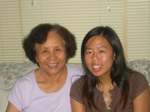 My Grandma and me in 2006