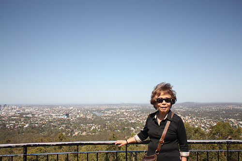 My Grandma at Mt. Coot-tha