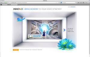 Screenshot of the Innovid Wonderland Microsite